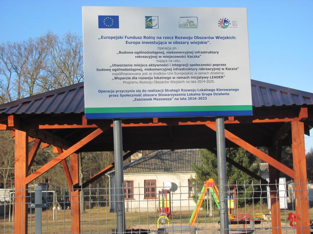 Budowa lub rozbudowa ogólnodostępnej i niekomercyjnej infrastruktury rekreacyjnej – Kaczka